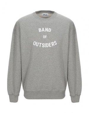 Толстовка BAND OF OUTSIDERS. Цвет: светло-серый