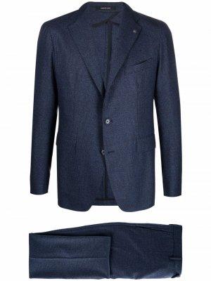 Фактурный костюм с однобортным пиджаком Tagliatore. Цвет: синий