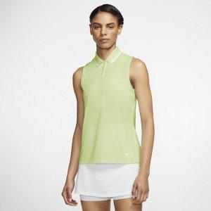 Женская рубашка-поло без рукавов для гольфа Dri-FIT Victory - Зеленый Nike