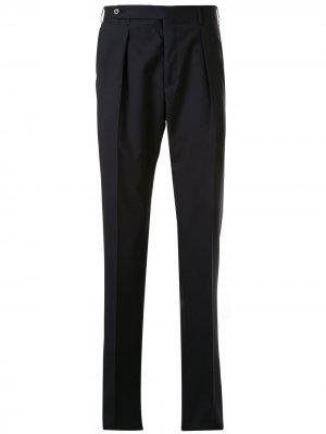 Непромокаемые брюки прямого кроя Corneliani. Цвет: синий