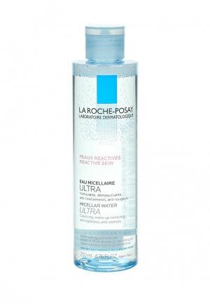 Мицеллярная вода La Roche-Posay ULTRA REACTIVE для чувствительной и склонной к аллергии кожи лица глаз, 200 мл. Цвет: прозрачный