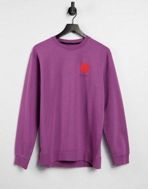 Фиолетовый свитшот с круглым вырезом Japanese Sun-Фиолетовый цвет Edwin