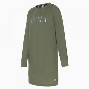 Платье Athletics Dress FL PUMA. Цвет: зеленый