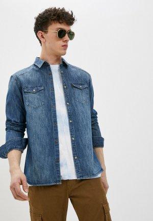 Рубашка джинсовая AllSaints. Цвет: синий