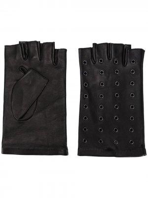 Декорированные перчатки-митенки Karl Lagerfeld. Цвет: черный