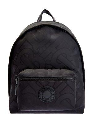 Легкий рюкзак со светоотражающими лентами BURBERRY. Цвет: черный
