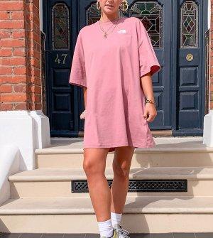 Розовое платье-футболка эксклюзивно для ASOS-Черный The North Face