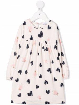 Платье мини с принтом Monnalisa. Цвет: розовый