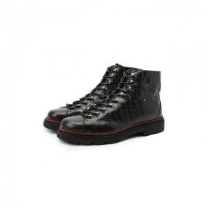 Кожаные ботинки Madigan Bally. Цвет: чёрный