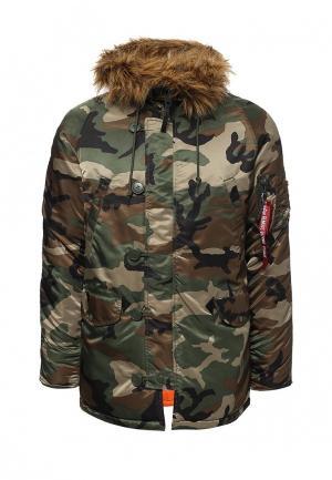 Куртка утепленная Alpha Industries. Цвет: хаки