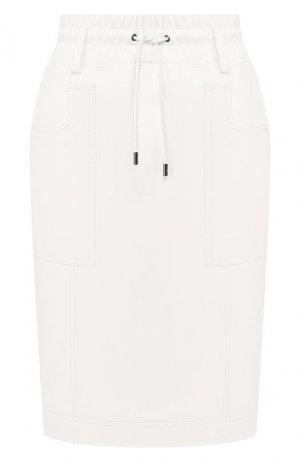 Кожаная юбка Tom Ford. Цвет: белый