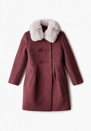 Пальто Mamma Mila!. Цвет: бордовый