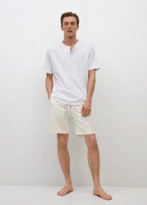 Комплект пижама хлопок и лен - Gibratar-i Mango. Цвет: песочный