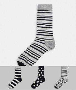 3 пары носков в подарочной упаковке HS By -Черный Happy Socks