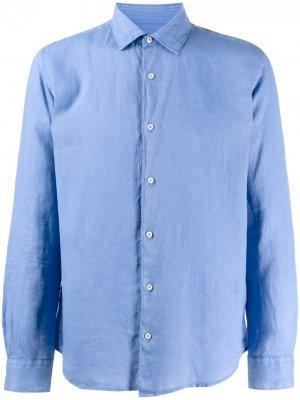 Рубашка с жатым эффектом Altea. Цвет: синий