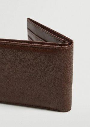 Бумажник с фактурной выделкой - Claelas Mango. Цвет: коричневый