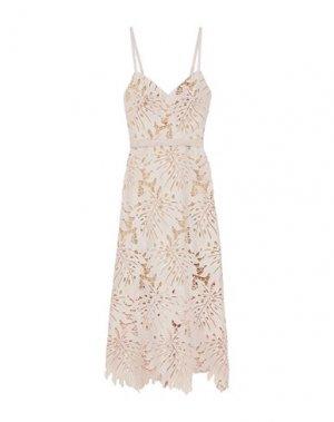 Длинное платье CATHERINE DEANE. Цвет: телесный