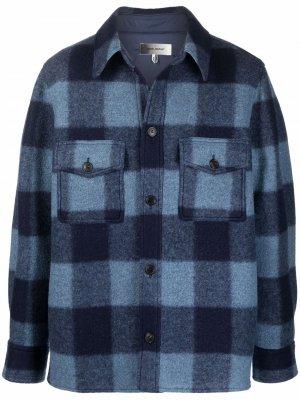 Куртка-рубашка в клетку Isabel Marant. Цвет: синий