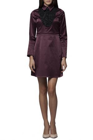 Платье JOELLE YOUNG JO'ELLE. Цвет: bordeaux and black