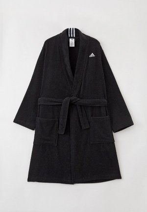 Халат домашний adidas BATHR VALUE UX. Цвет: черный