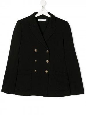 Двубортный пиджак Philosophy Di Lorenzo Serafini Kids. Цвет: черный