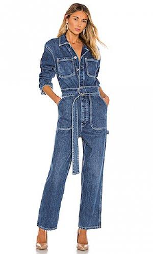 Джинсовый комбинезон utility Hudson Jeans. Цвет: none