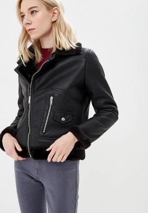 Куртка кожаная Elsi. Цвет: черный