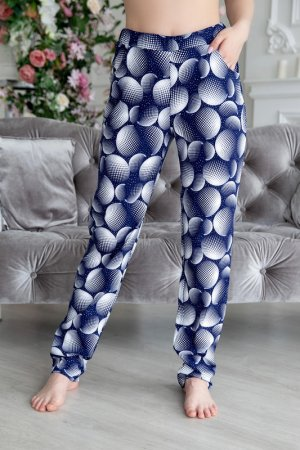 Брюки домашние Lika dress. Цвет: синий