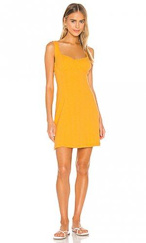 Мини платье honey Line & Dot. Цвет: оранжевый