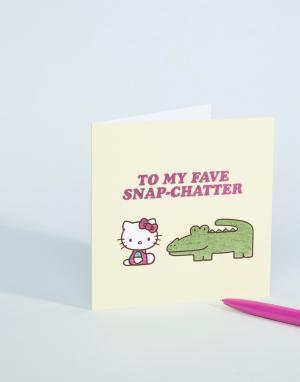 Открытка My Fave Snap-Chatter Hello Kitty. Цвет: мульти