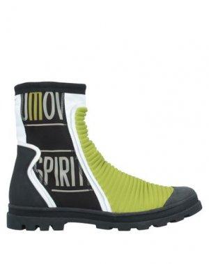 Полусапоги и высокие ботинки MAISON MARGIELA. Цвет: зеленый