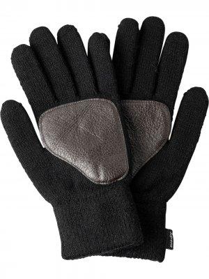 Перчатки со вставками Supreme. Цвет: черный
