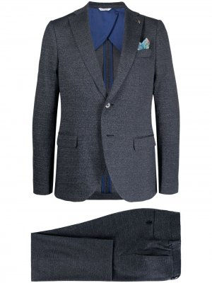 Костюм-двойка с однобортным пиджаком Manuel Ritz. Цвет: синий