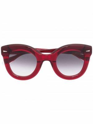 Солнцезащитные очки в оправе кошачий глаз GIGI STUDIOS. Цвет: красный