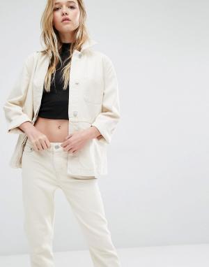 Джинсовая куртка Weekday. Цвет: кремовый