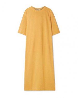 Платье миди ELIZABETH AND JAMES. Цвет: охра