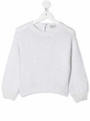 Rib-trimmed knitted jumper Il Gufo. Цвет: белый
