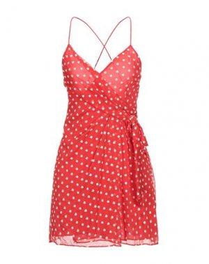 Короткое платье ALICE + OLIVIA. Цвет: красный