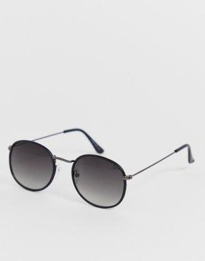 Черные солнцезащитные очки в стиле ретро -Черный Only & Sons