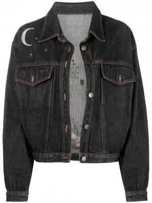 Джинсовая куртка 1990-х годов с вышивкой A.N.G.E.L.O. Vintage Cult. Цвет: черный