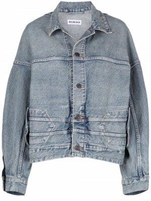 Джинсовая куртка Upside Down Balenciaga. Цвет: синий