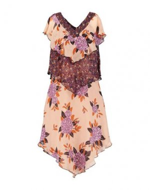 Короткое платье ANNA SUI. Цвет: телесный