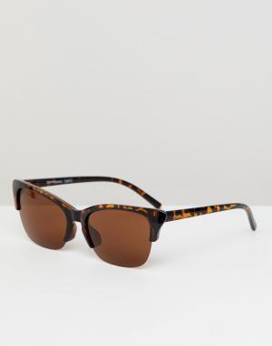 Солнцезащитные очки в черепаховой оправе стиле ретро inspired-Коричневый Reclaimed Vintage