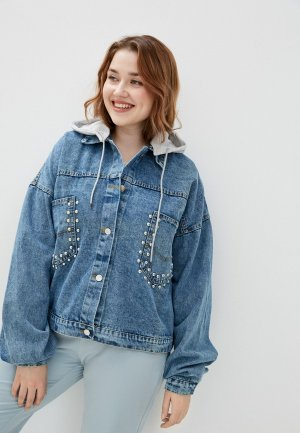 Куртка джинсовая Chic de Femme. Цвет: голубой