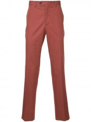 Классические приталенные брюки Gieves & Hawkes. Цвет: коричневый
