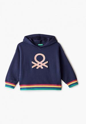 Худи United Colors of Benetton. Цвет: синий