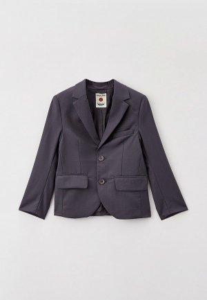 Пиджак Button Blue. Цвет: серый
