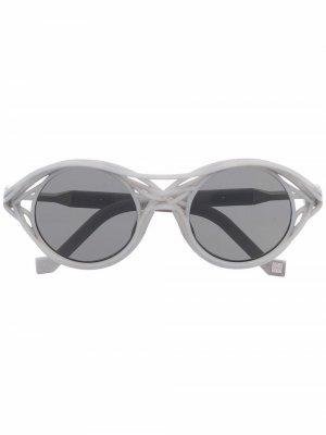 Солнцезащитные очки CL0015 в круглой оправе VAVA Eyewear. Цвет: серый