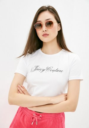 Футболка Juicy Couture. Цвет: белый