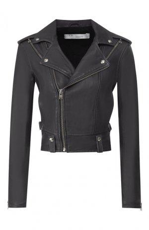 Кожаная куртка Iro. Цвет: серый